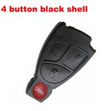 Blank Shell for MercedesBenz Black Remote Transmitter 4 Button
